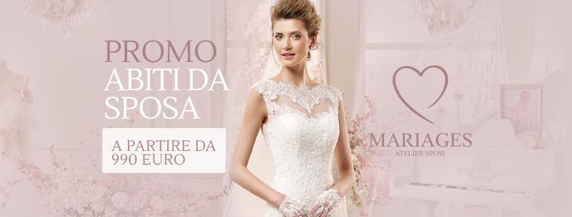 Promozione abiti da sposa a Gennaio. A partire da 990 €