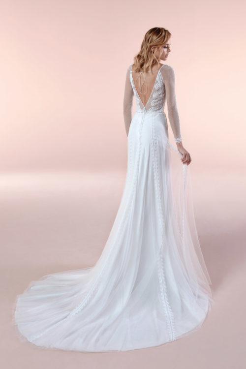 Mariages: abito da sposa Boho Chic Nicole 2020 a Vicenza Verona Padova Veneto BCA20081-1