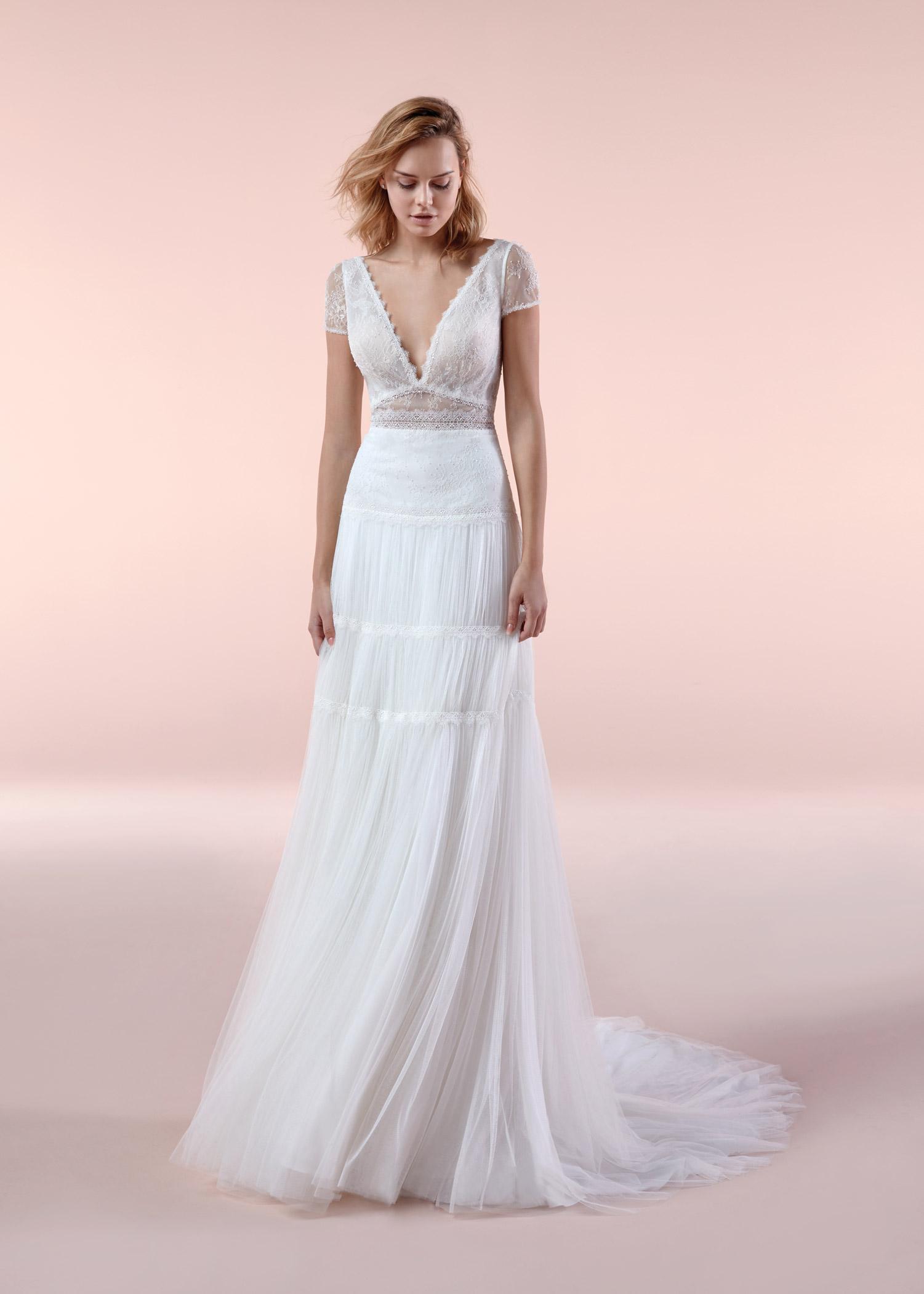 Abiti Da Sposa Boho Chic.Abito Da Sposa Boho Chic Nicole 2020 Bca20121 Mariages