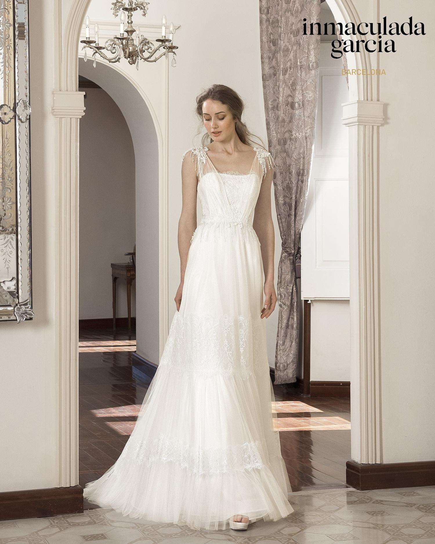 Vestiti Eleganti Vicenza.Abito Da Sposa Immaculada Garcia 2020 Honey Mariages It