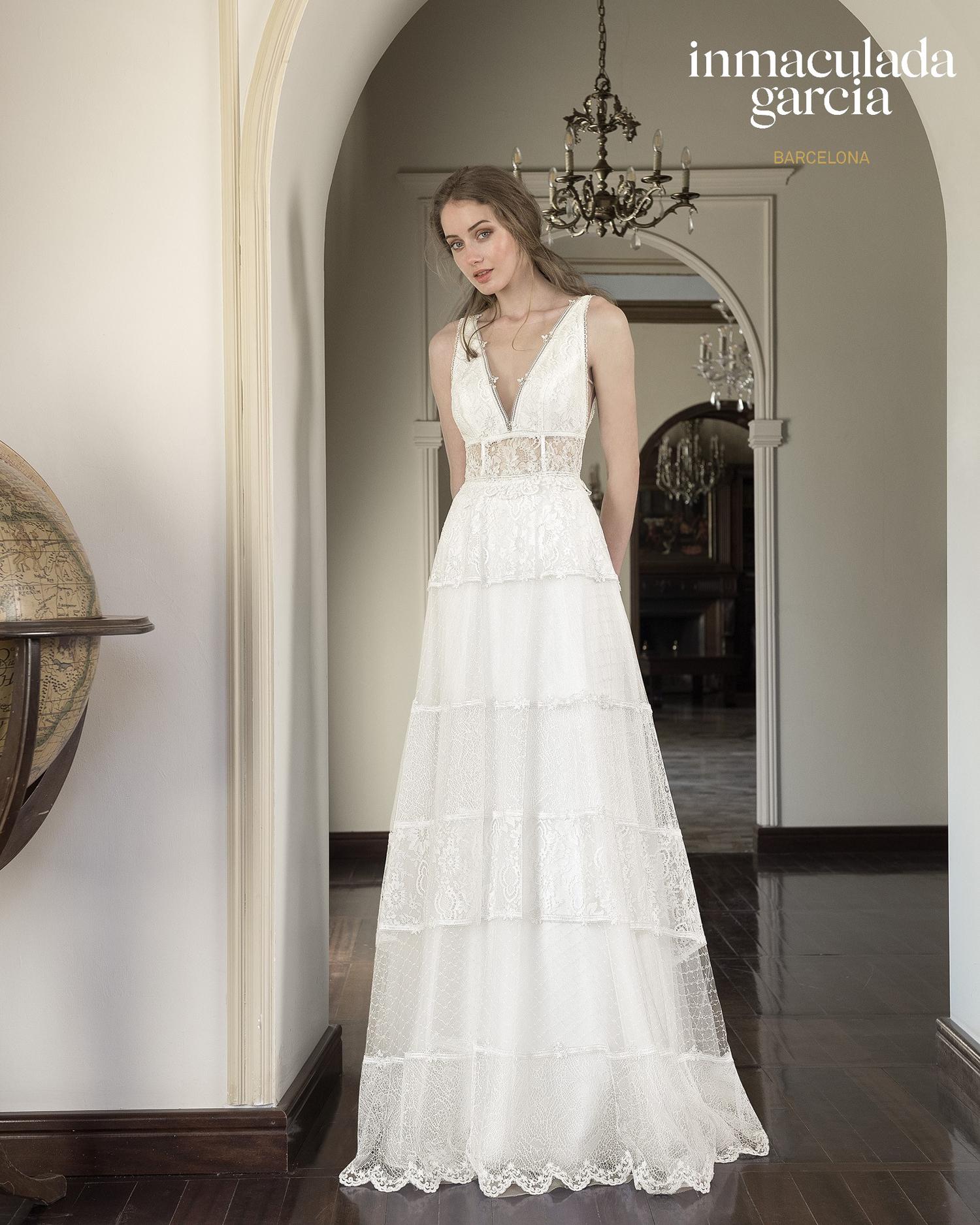 Vestiti Cerimonia Vicenza.Abito Da Sposa Immaculada Garcia 2020 Laguna Mariages It