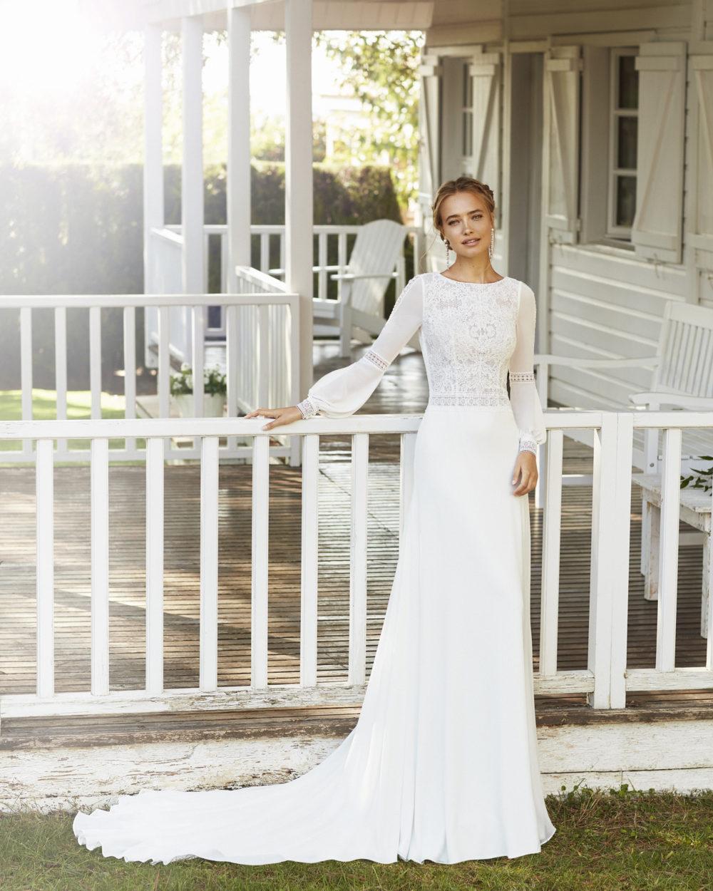 Mariages: abito da sposa Rosa Clarà 2020 a Vicenza, Verona, Padova, Veneto 4A101 CABANA