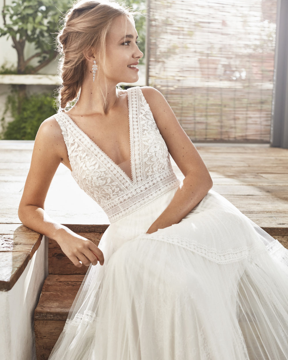 Mariages: abito da sposa Rosa Clarà 2020 a Vicenza, Verona, Padova, Veneto 4A118 CAMI