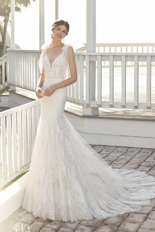 Mariages: abito da sposa Rosa Clarà 2020 a Vicenza, Verona, Padova, Veneto 4A167 CHICAGO