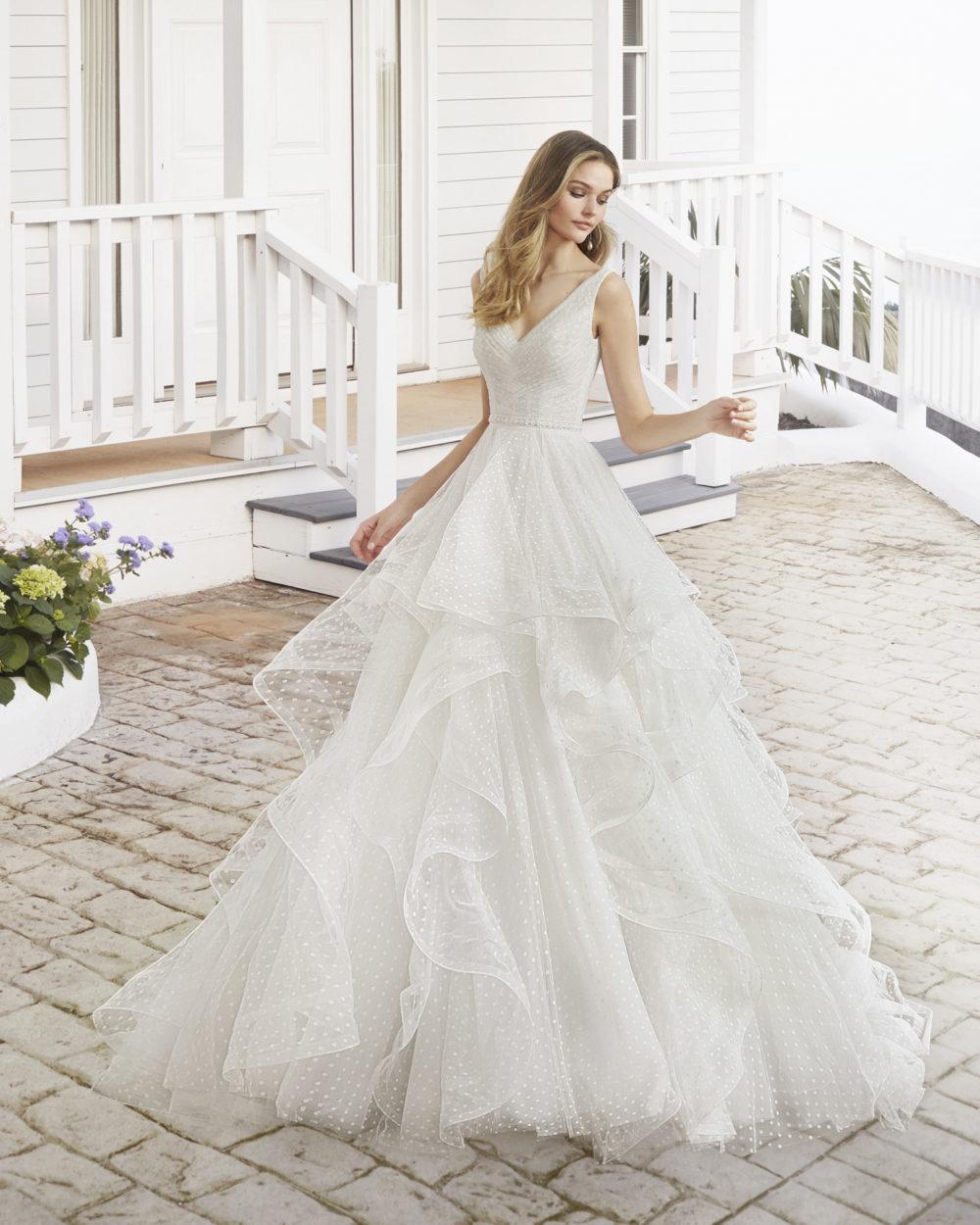 Mariages: abito da sposa Rosa Clarà 2020 a Vicenza, Verona, Padova, Veneto 4A186 COLBY
