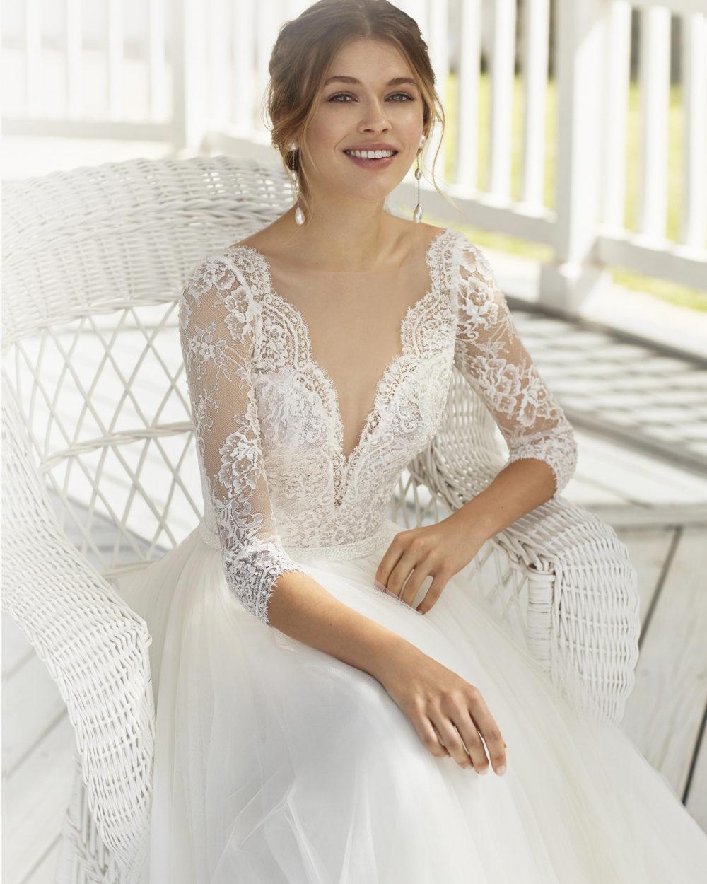 Mariages: abito da sposa Rosa Clarà 2020 a Vicenza, Verona, Padova, Veneto 4A1A5 CORFU