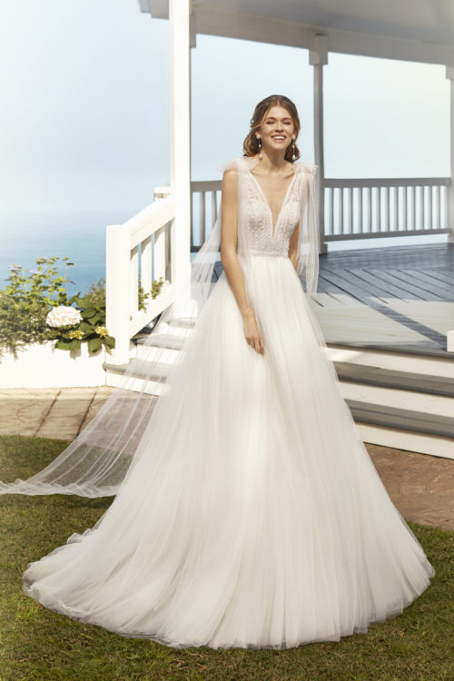Mariages: abito da sposa Rosa Clarà 2020 a Vicenza, Verona, Padova, Veneto 4A1A8 COROT