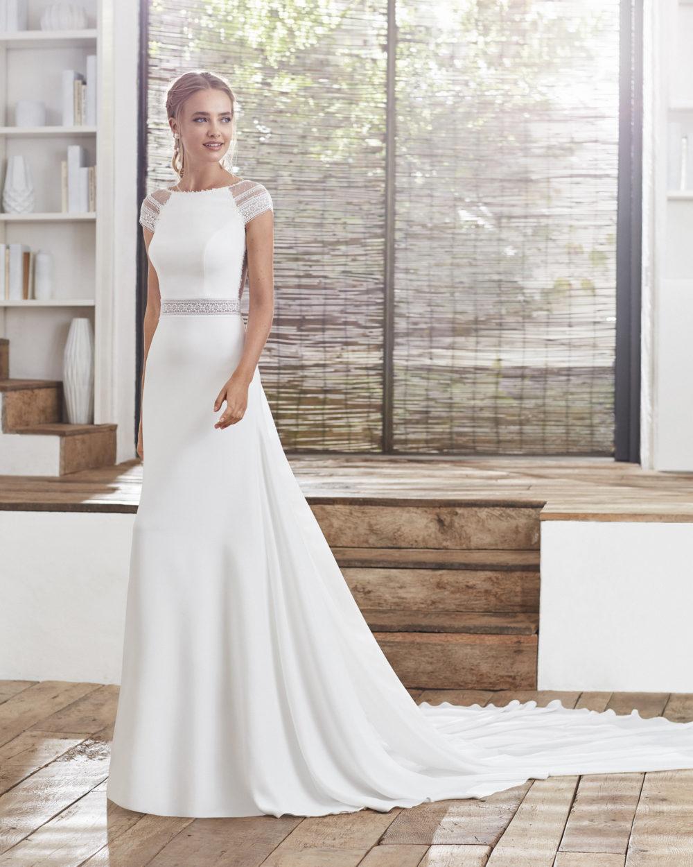 Mariages: abito da sposa Rosa Clarà 2020 a Vicenza, Verona, Padova, Veneto 4A207 CAELI
