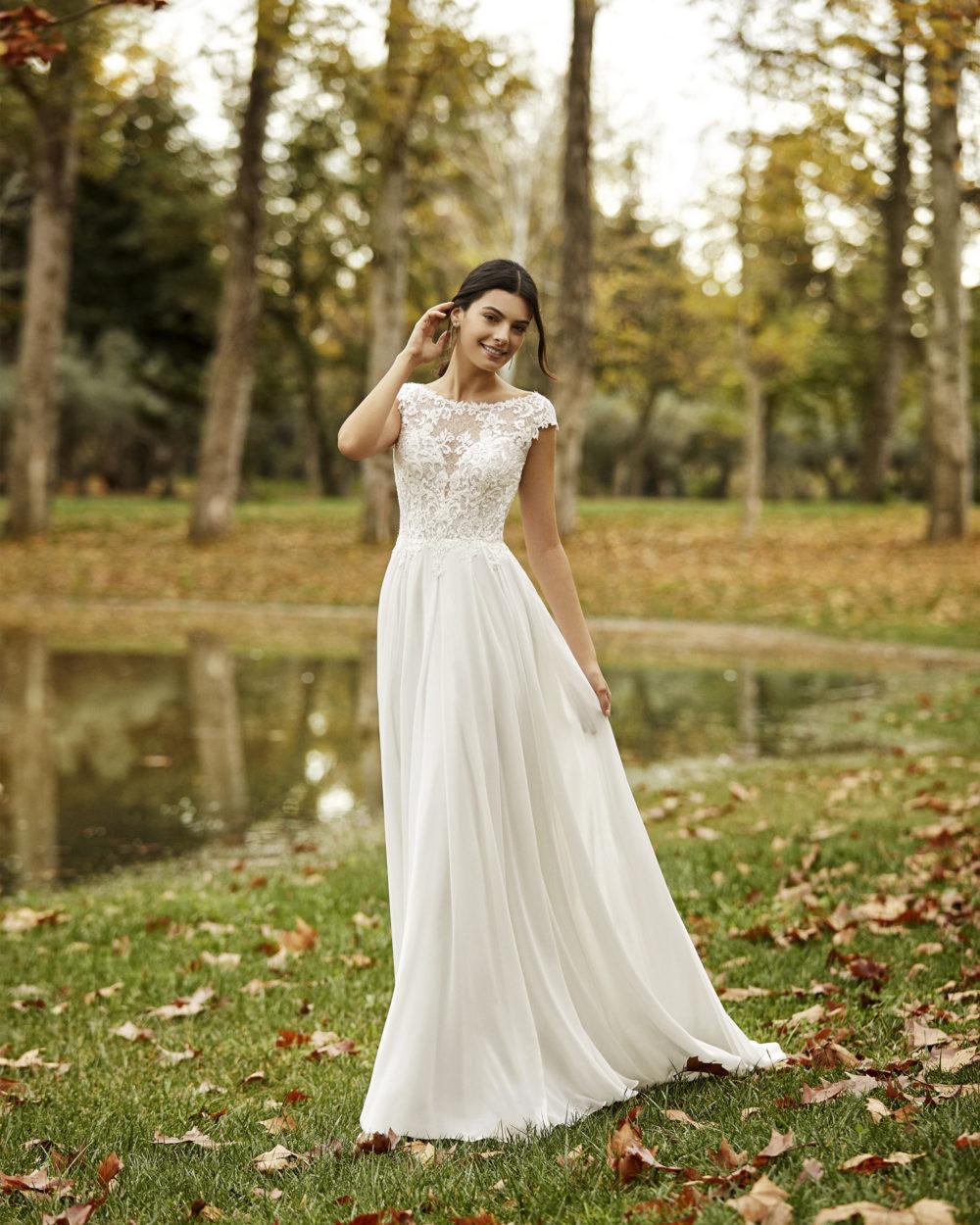 Mariages: abito da sposa Rosa Clarà 2020 a Vicenza, Verona, Padova, Veneto 4B130 OFELIA