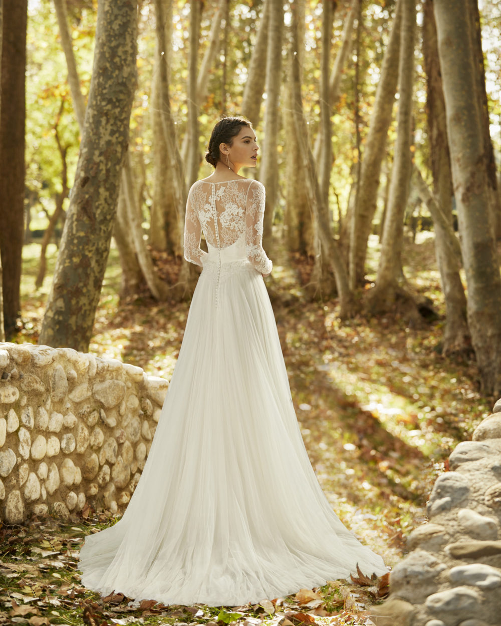 Mariages: abito da sposa Rosa Clarà 2020 a Vicenza, Verona, Padova, Veneto 4B163 OMEYA