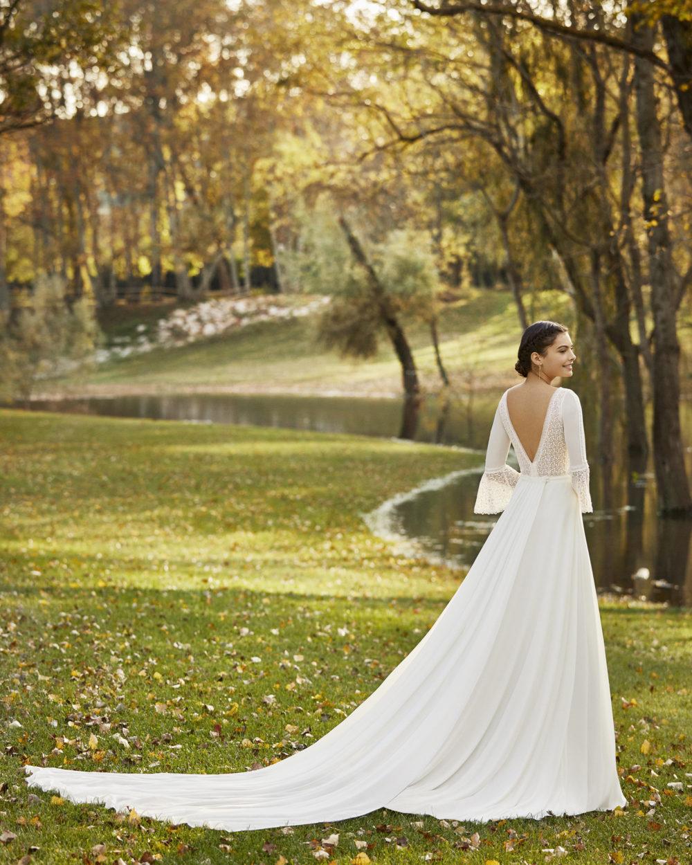 Mariages: abito da sposa Rosa Clarà 2020 a Vicenza, Verona, Padova, Veneto 4B235 OKONDO
