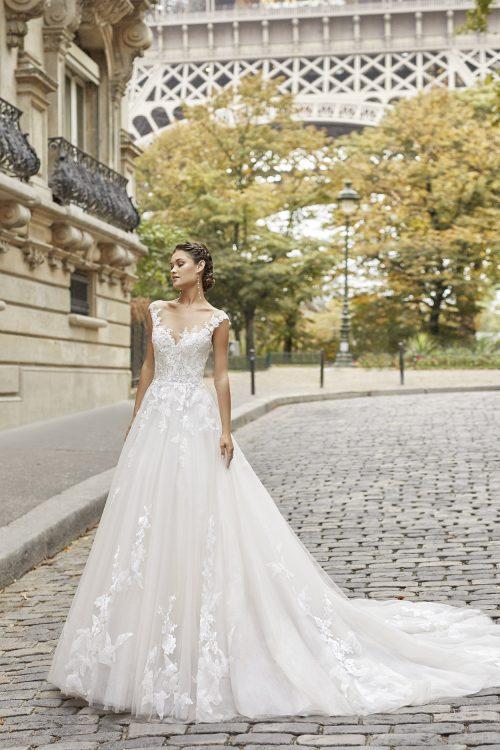 Mariages: abito da sposa Rosa Clarà 2021 a Vicenza, Verona, Padova, Veneto 5A145 TERESA