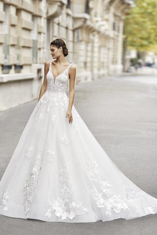 Mariages: abito da sposa Rosa Clarà 2021 a Vicenza, Verona, Padova, Veneto 5A146 TERMAL