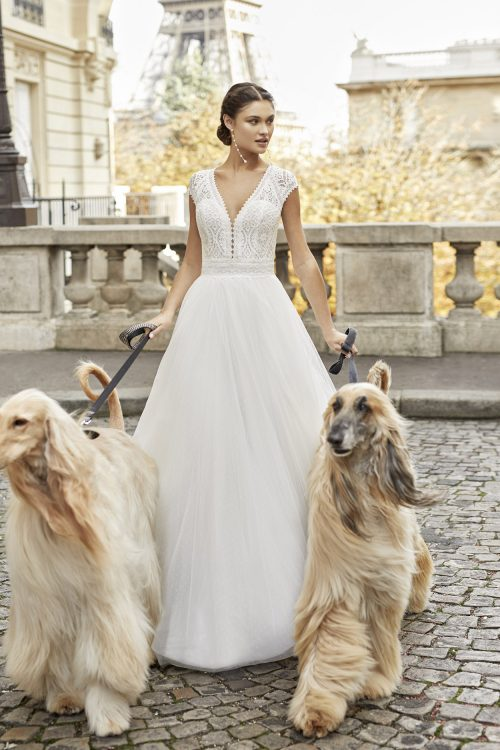 Mariages: abito da sposa Rosa Clarà 2021 a Vicenza, Verona, Padova, Veneto 5A164 TIMBAL