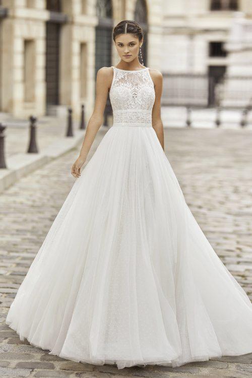 Mariages: abito da sposa Rosa Clarà 2021 a Vicenza, Verona, Padova, Veneto 5A165 TINA