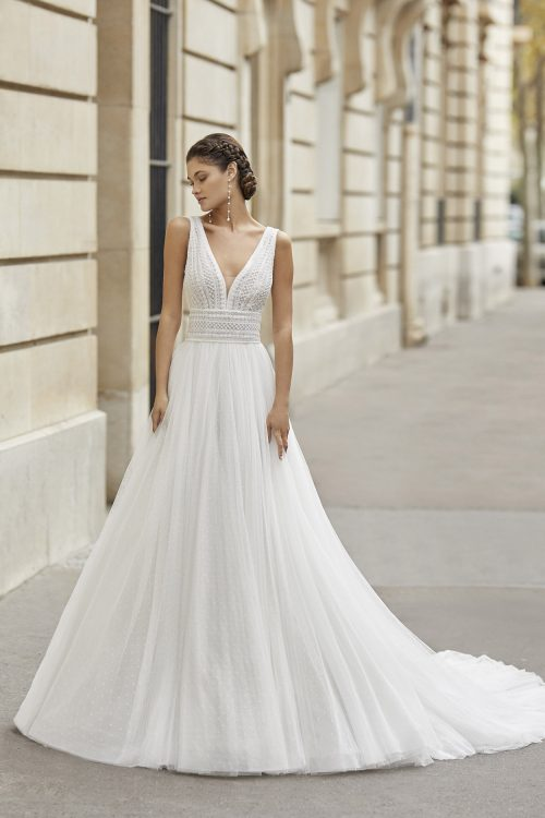 Mariages: abito da sposa Rosa Clarà 2021 a Vicenza, Verona, Padova, Veneto 5A166 TINEK