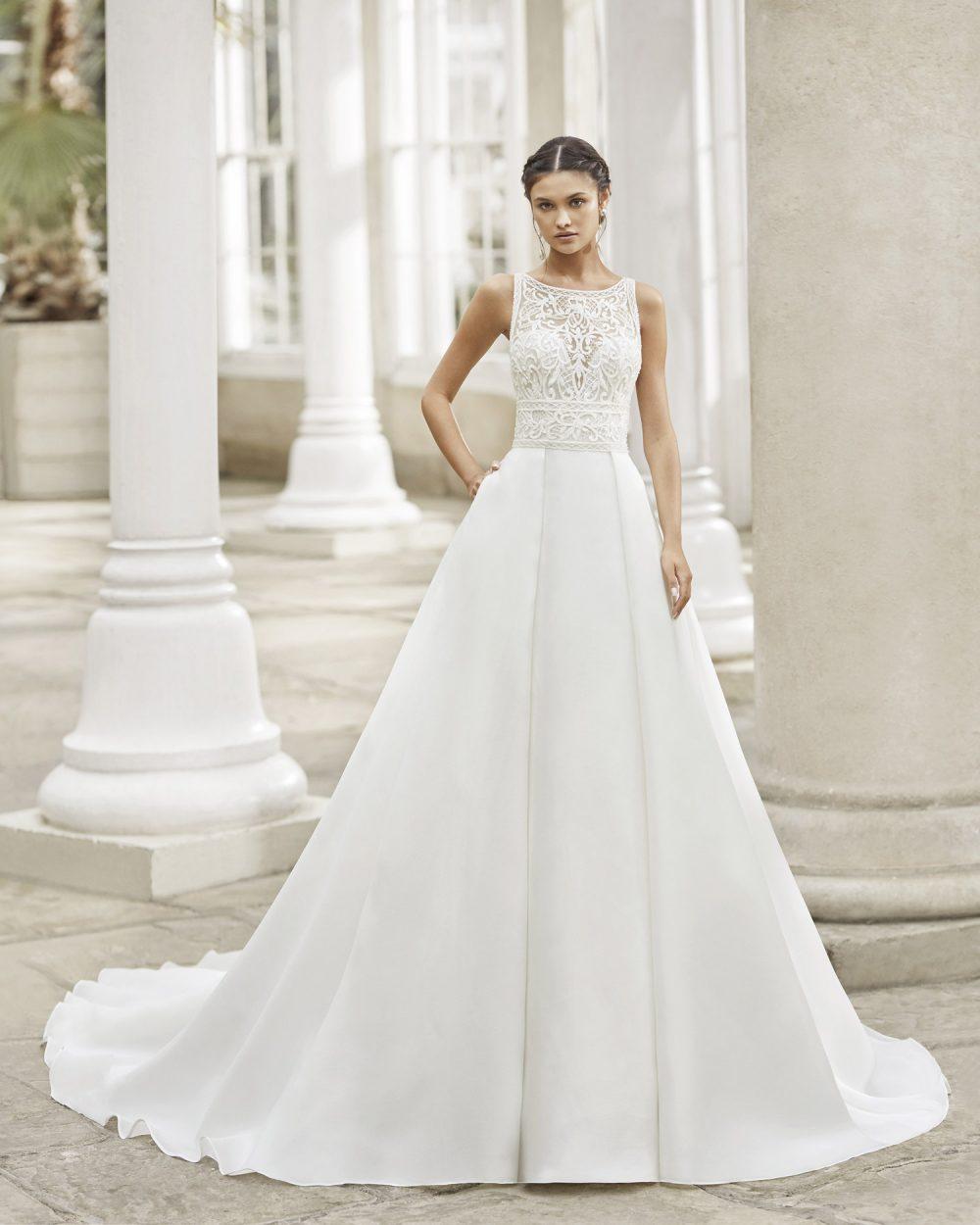 Mariages: abito da sposa Rosa Clarà 2021 a Vicenza, Verona, Padova, Veneto 5A179 TREBOL