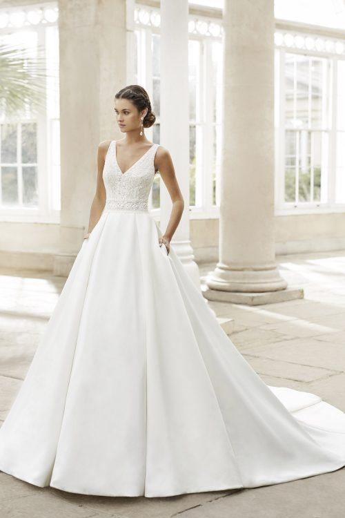 Mariages: abito da sposa Rosa Clarà 2021 a Vicenza, Verona, Padova, Veneto 5A180 TRENSY