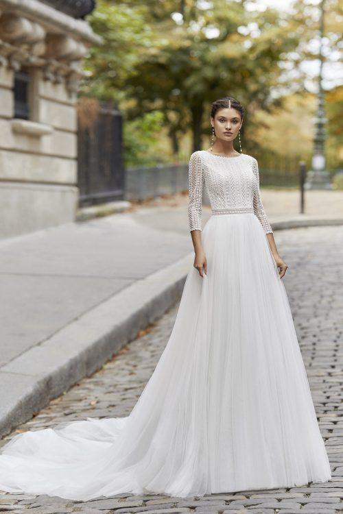 Mariages: abito da sposa Rosa Clarà 2021 a Vicenza, Verona, Padova, Veneto 5A193 TYRELL
