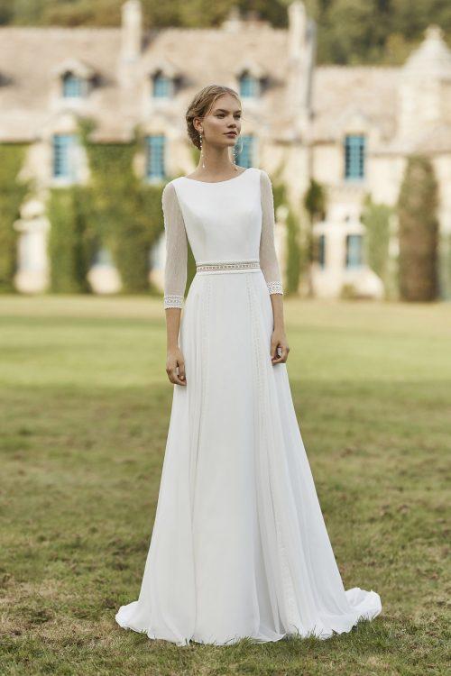 Mariages: abito da sposa Rosa Clarà 2021 a Vicenza, Verona, Padova, Veneto 5B108 WALIB