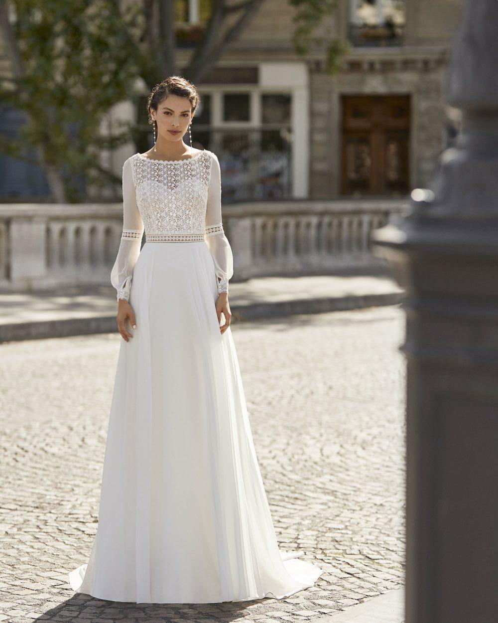 Mariages: abito da sposa Rosa Clarà 2021 a Vicenza, Verona, Padova, Veneto 5B119 WARUS