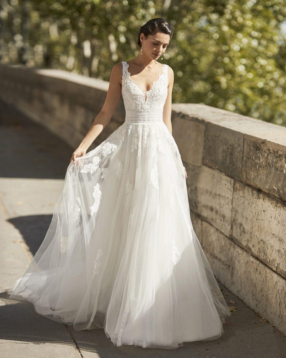 Mariages: abito da sposa Rosa Clarà 2021 a Vicenza, Verona, Padova, Veneto 5B155 WYATT