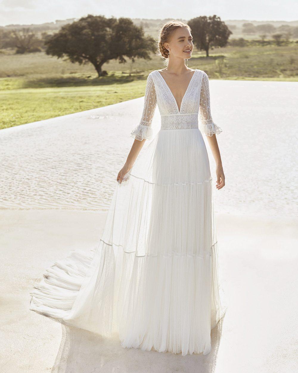 Mariages: abito da sposa Rosa Clarà 2021 a Vicenza, Verona, Padova, Veneto 5E122 APOLO