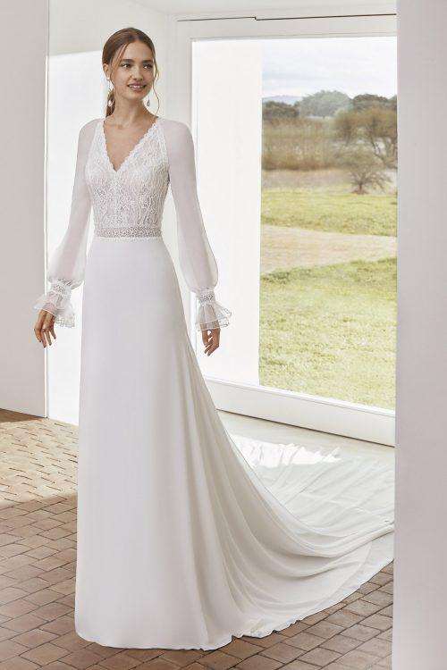 Mariages: abito da sposa Rosa Clarà 2021 a Vicenza, Verona, Padova, Veneto 5E209 ALESSIA