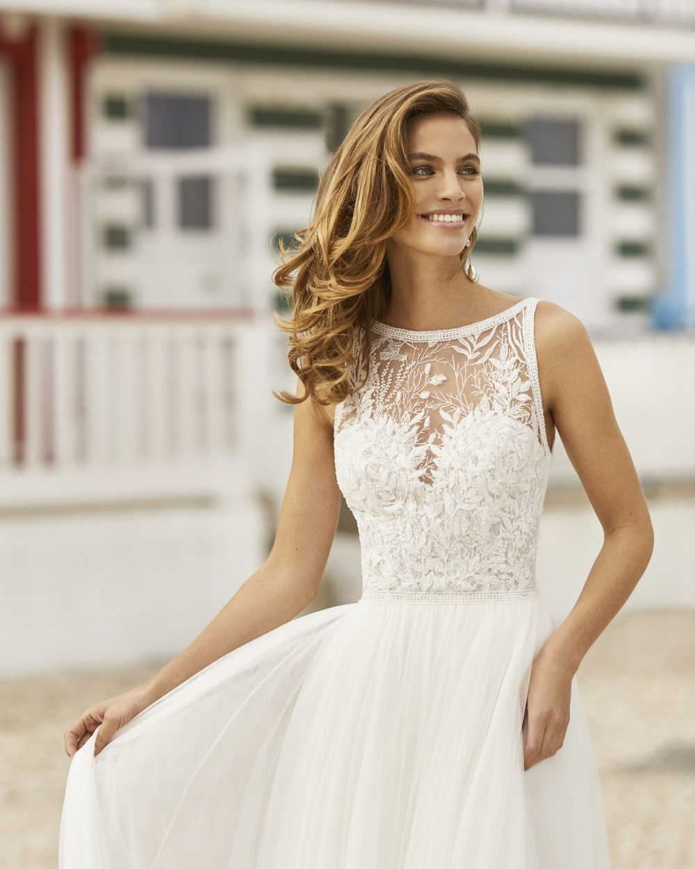 Mariages: abito da sposa Rosa Clarà 2021 a Vicenza, Verona, Padova, Veneto 5K109 HANIEL
