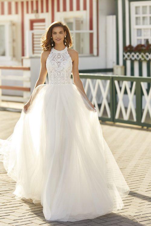 Mariages: abito da sposa Rosa Clarà 2021 a Vicenza, Verona, Padova, Veneto 5K110 HANNA