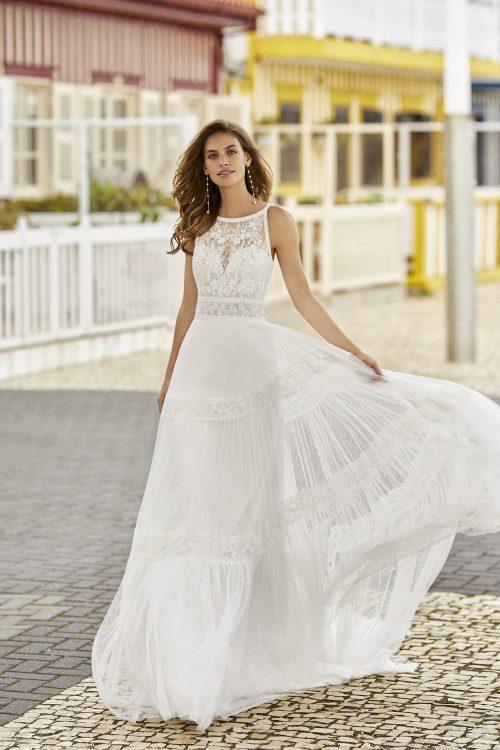 Mariages: abito da sposa Rosa Clarà 2021 a Vicenza, Verona, Padova, Veneto 5K116 HASSEL