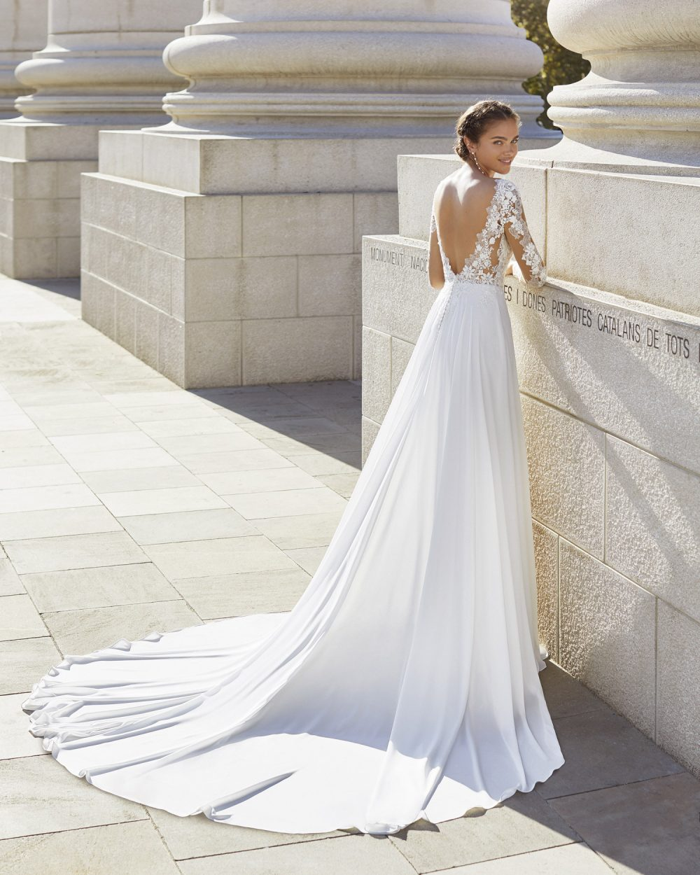 Mariages: abito da sposa Rosa Clarà 2021 a Vicenza, Verona, Padova, Veneto 5S105 YAEL