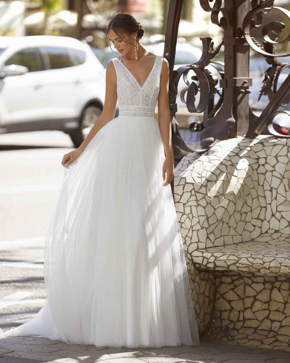 Mariages: abito da sposa Rosa Clarà 2021 a Vicenza, Verona, Padova, Veneto 5S132 YASI