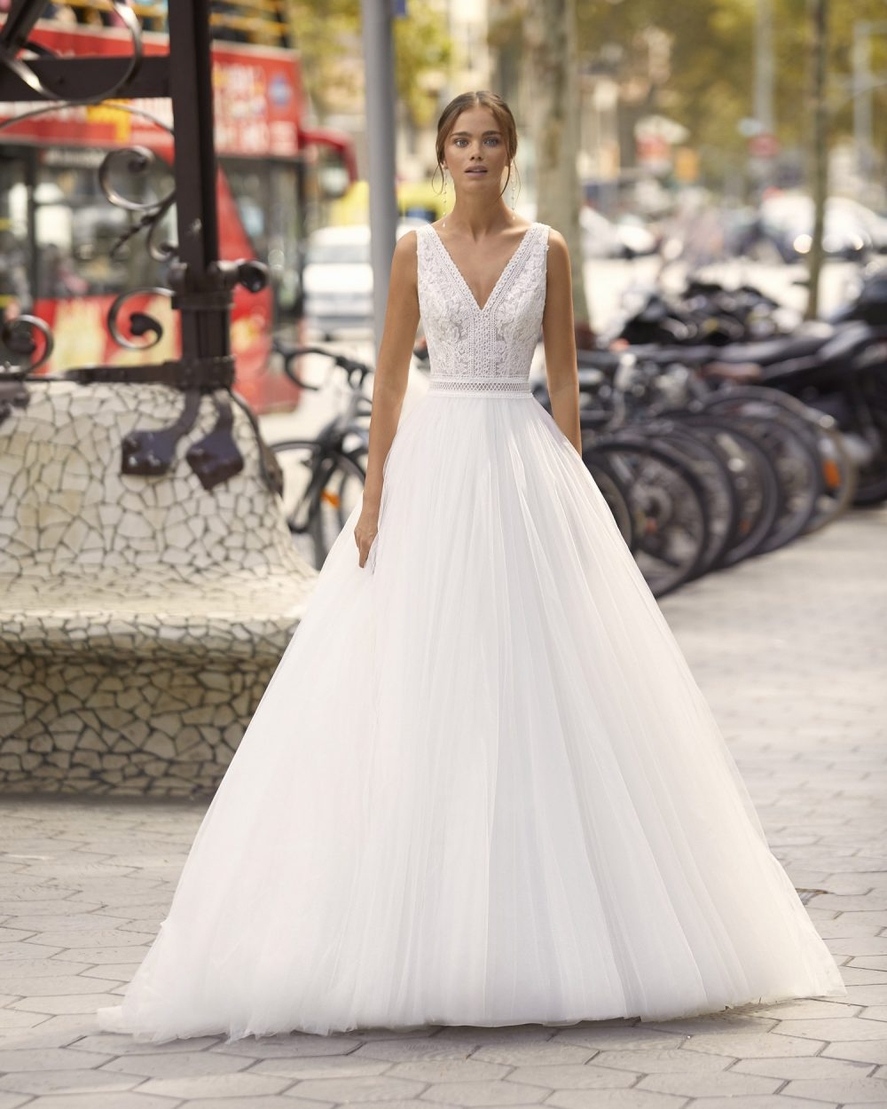 Mariages: abito da sposa Rosa Clarà 2021 a Vicenza, Verona, Padova, Veneto 5S135 YASMIN