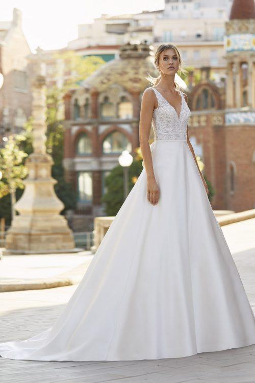 Mariages: abito da sposa Rosa Clarà 2021 a Vicenza, Verona, Padova, Veneto 5S161 YUKO