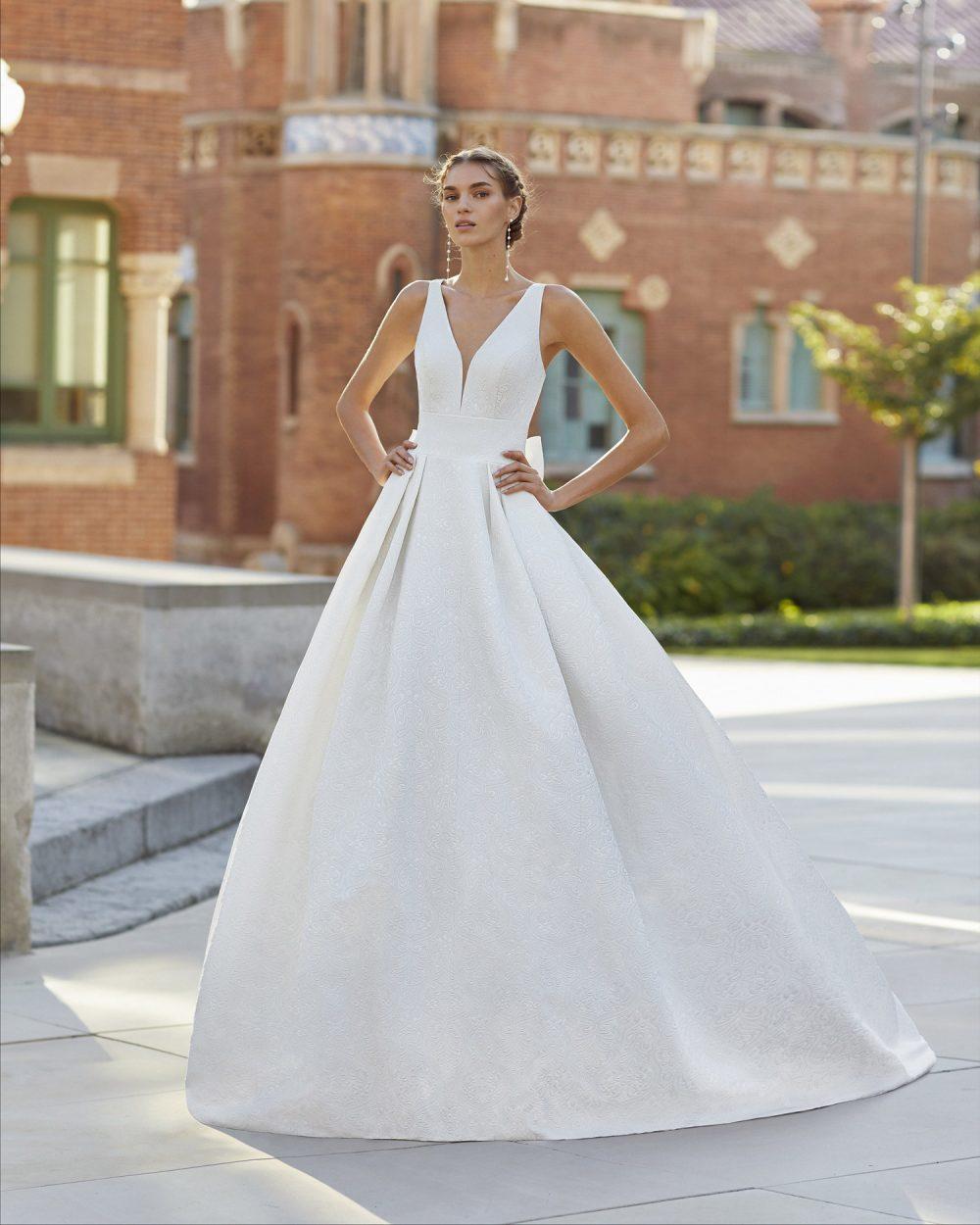 Mariages: abito da sposa Rosa Clarà 2021 a Vicenza, Verona, Padova, Veneto 5S164 YUMEI