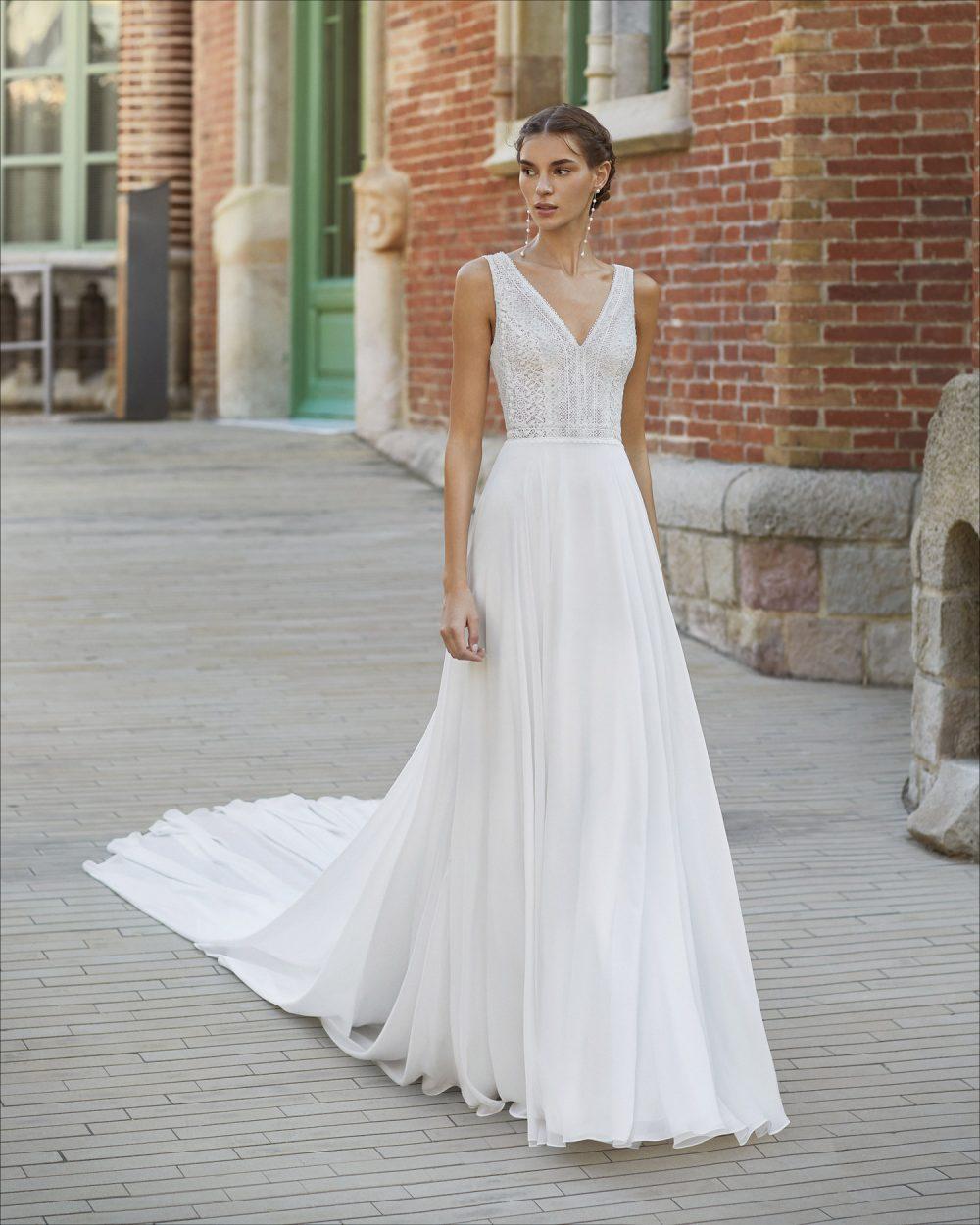 Mariages: abito da sposa Rosa Clarà 2021 a Vicenza, Verona, Padova, Veneto 5S202 YADIEL