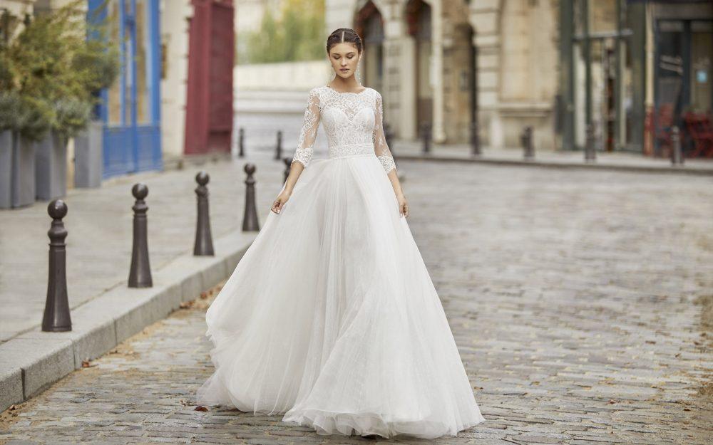 Mariages: abito da sposa Rosa Clarà 2021 a Vicenza, Verona, Padova, Veneto 5A163 TIFANY