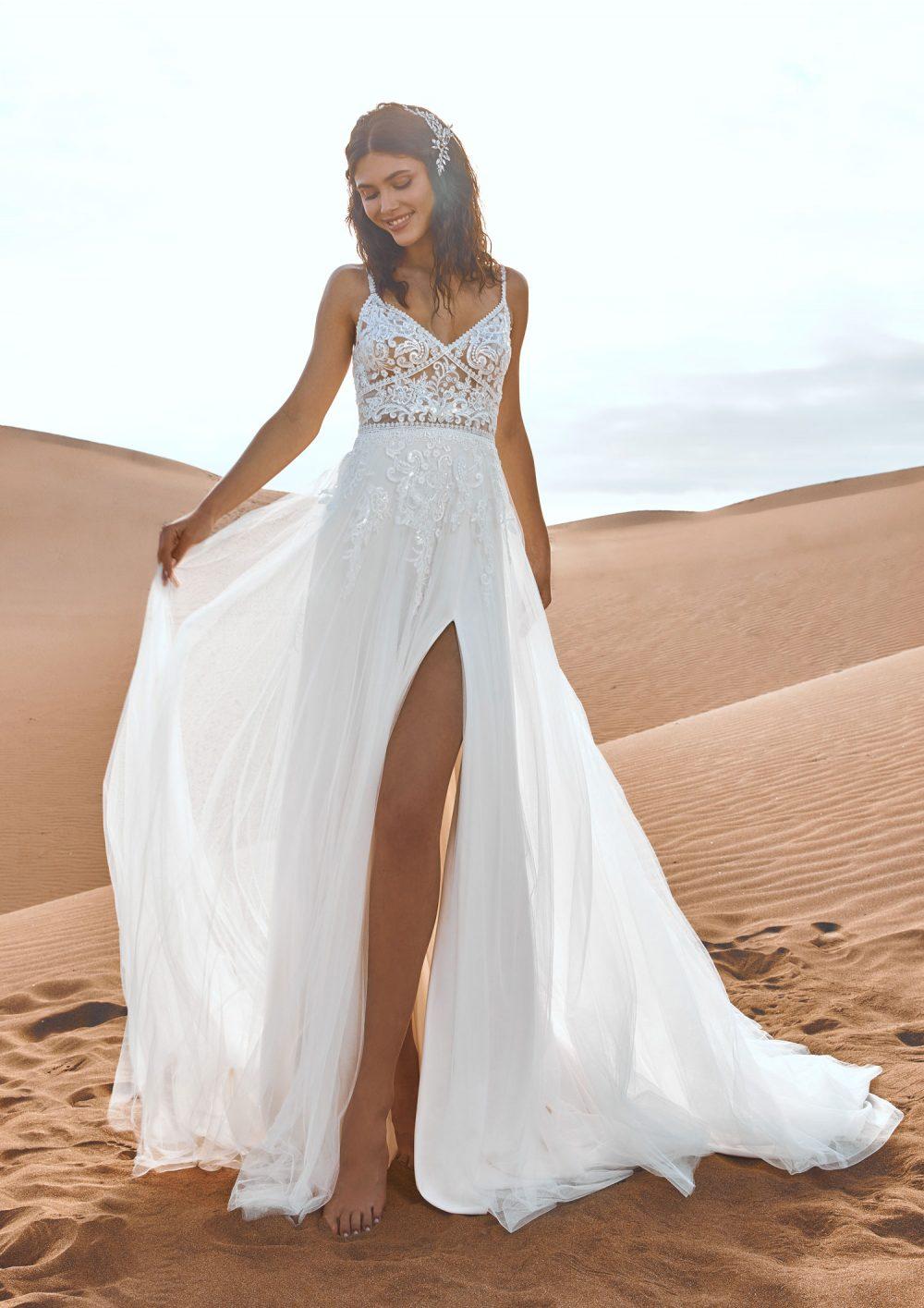 Pronovias 2022 abito vestito sposa Vicenza ALBATRE