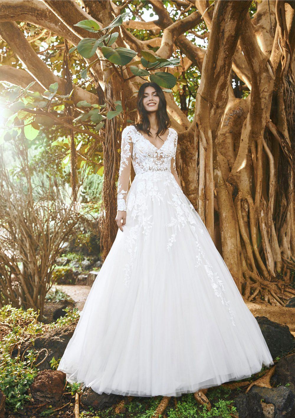 Pronovias 2022 abito vestito sposa Vicenza MAROON