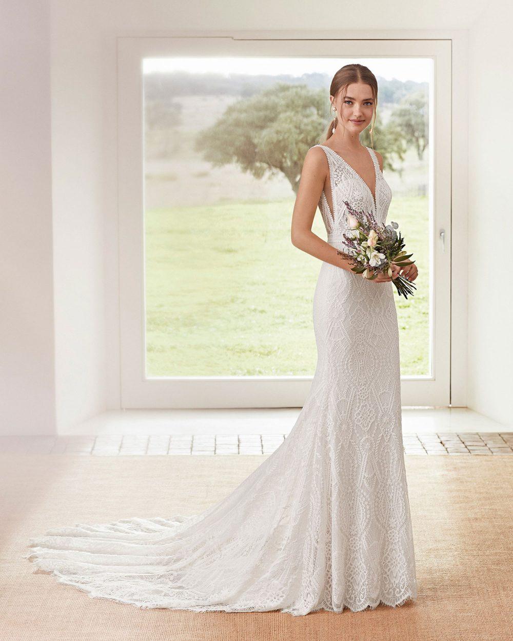 Rosa Clarà 2022 abito vestito sposa Vicenza AURORA