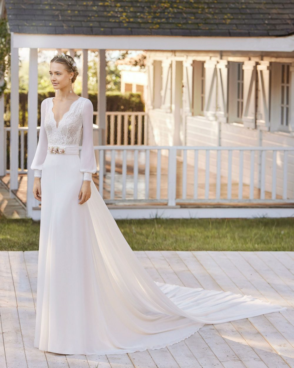Rosa Clarà 2022 abito vestito sposa Vicenza LENY