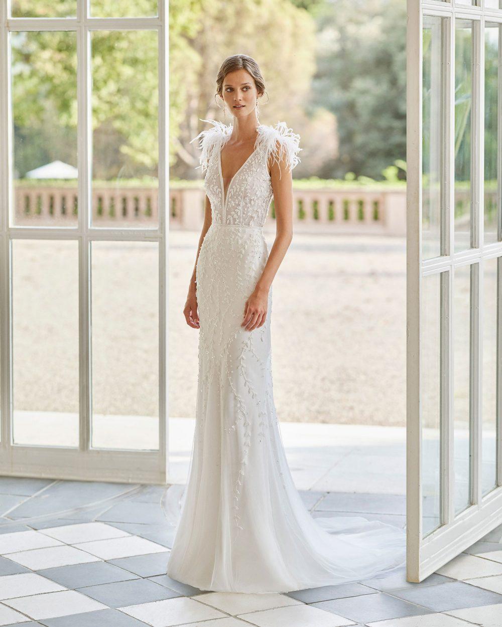 Rosa Clarà 2022 abito vestito sposa Vicenza OREN