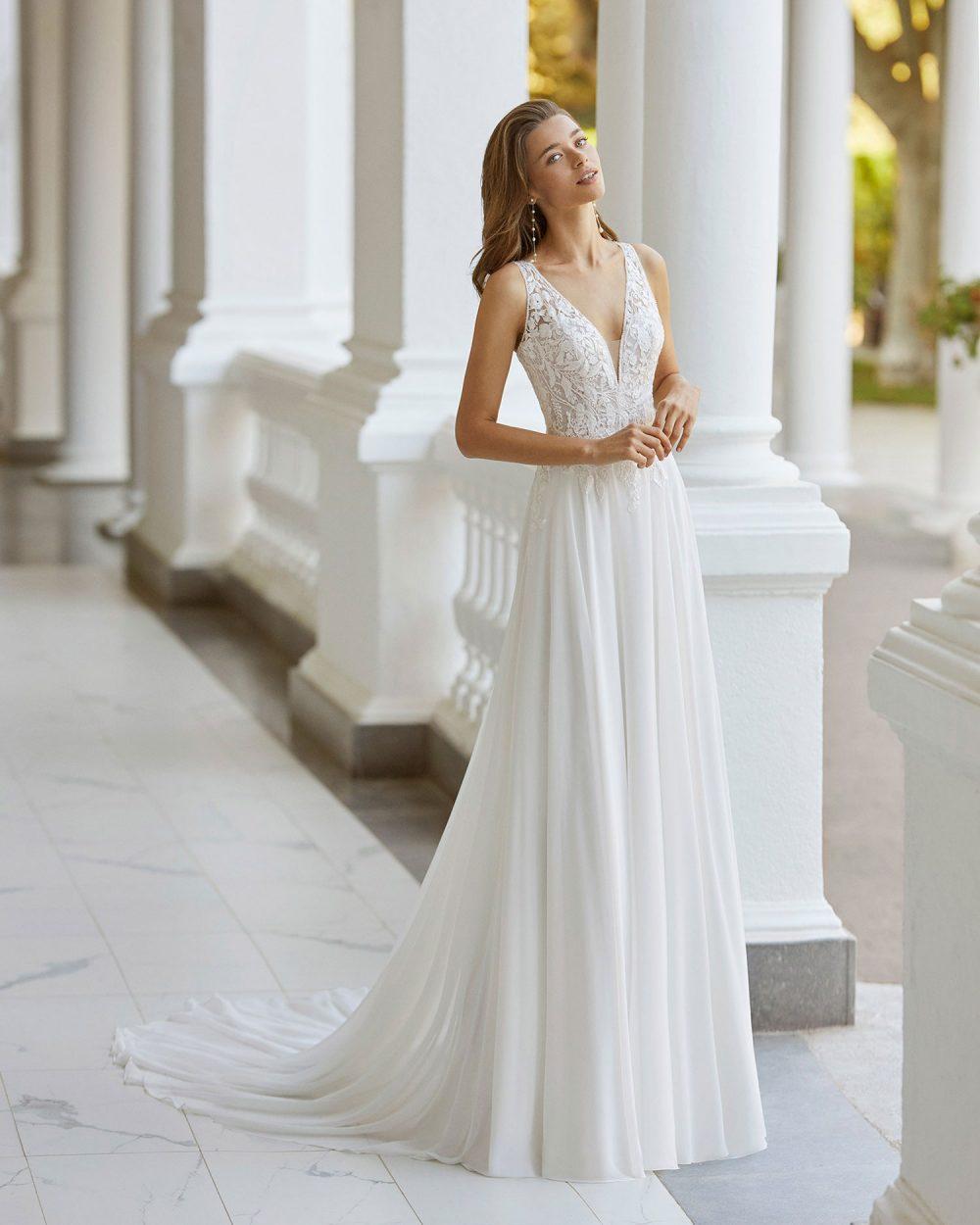 Rosa Clarà 2022 abito vestito sposa Vicenza SAINA