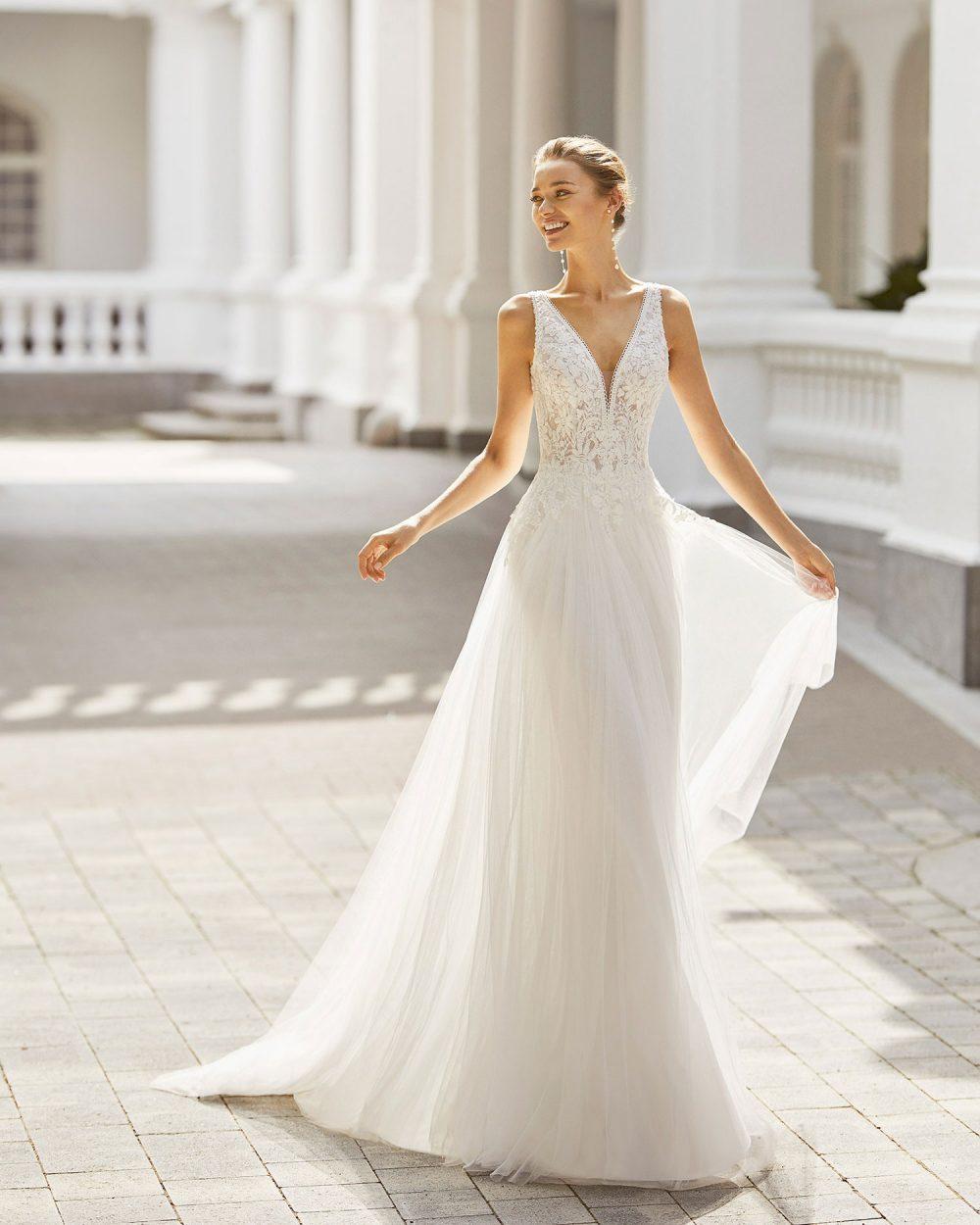 Rosa Clarà 2022 abito vestito sposa Vicenza SARONY