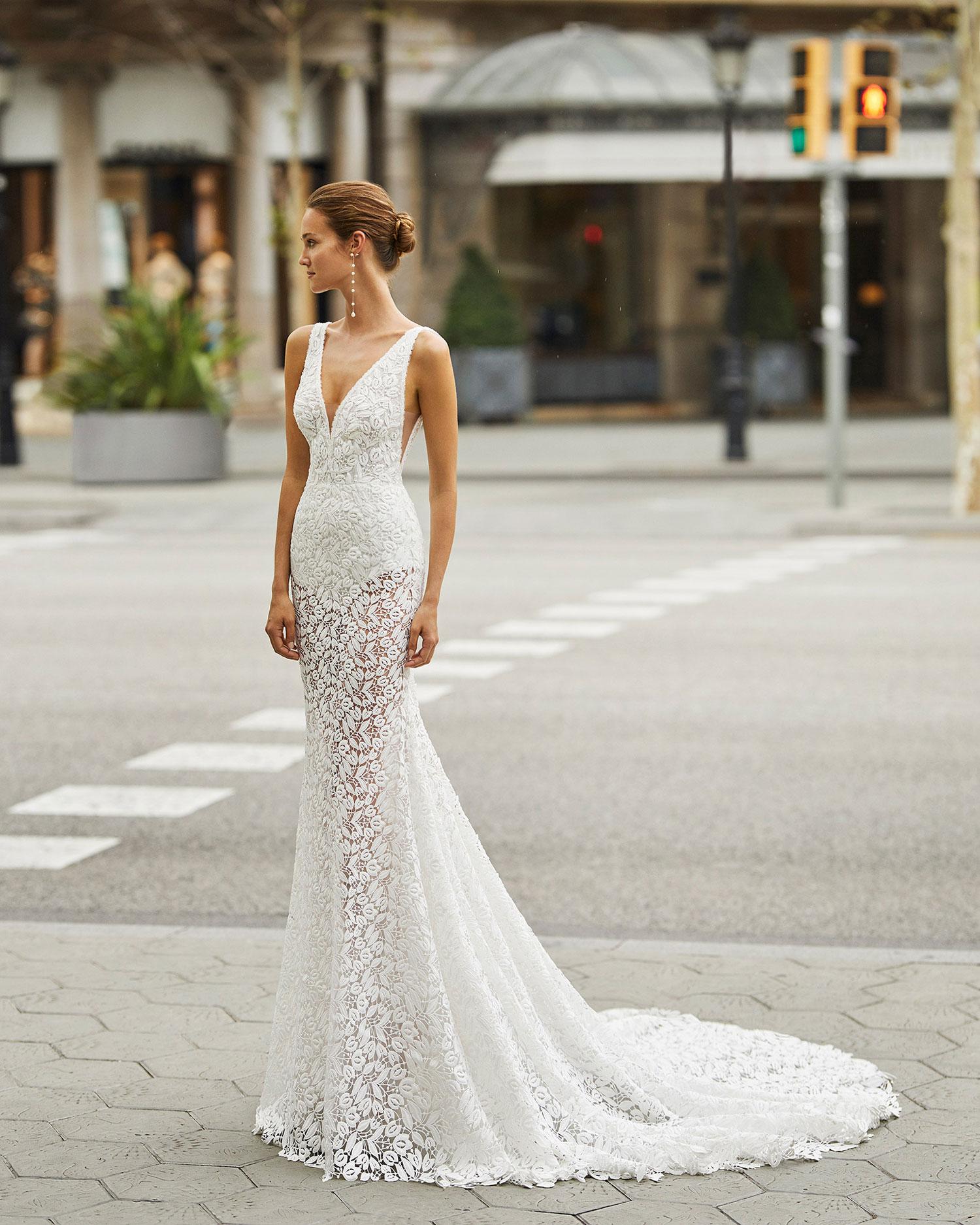 Rosa Clarà 2022 abito vestito sposa Vicenza FEBE