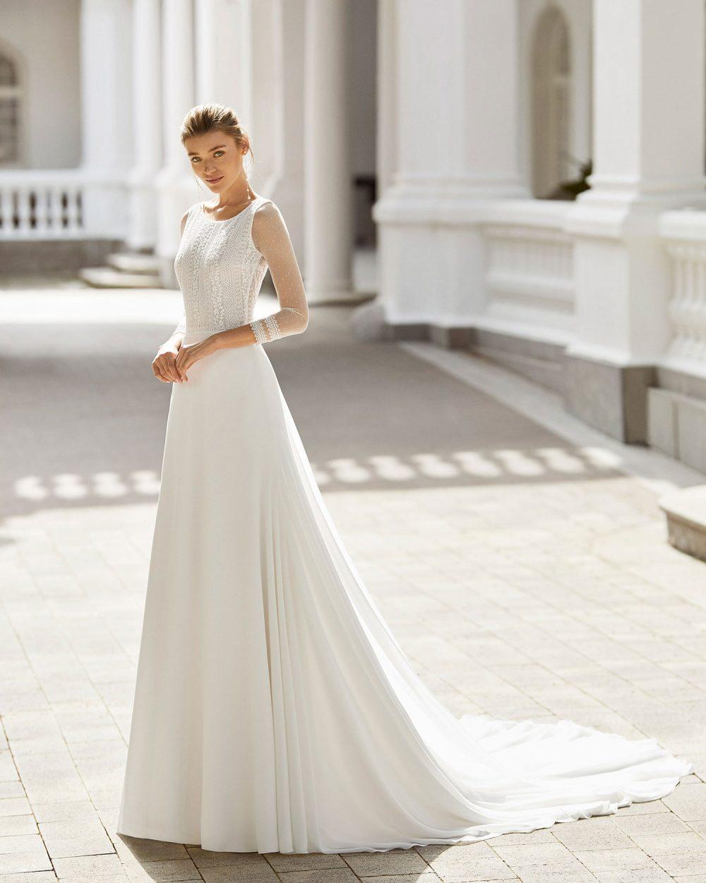 Rosa Clarà 2022 abito vestito sposa Vicenza SALGAR