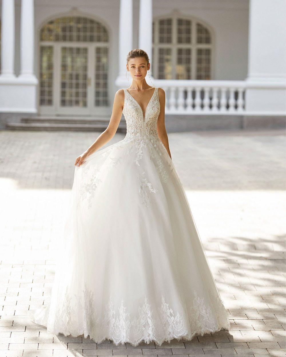 Rosa Clarà 2022 abito vestito sposa Vicenza SINTRA
